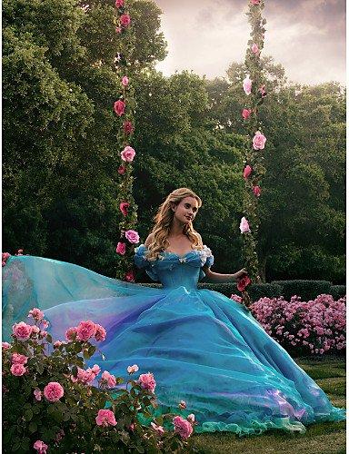 HY&OB Ballkleid Princess V-Ausschnitt Kapelle Zug Organza Tulle Charmeuse Formale Abendkleid Mit...