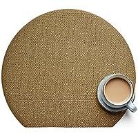 Tonpot - Mantel Individual con Aislamiento Lavable de PVC, Forma de Media Luna, protección