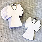 ODN 10Pcs Christmas Wood Chip Tree Ornaments Hanging Pendant Decoration Gifts (Angel)