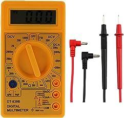 OBEST NIU Digital Multimeter Digitalmultimeter Spannungsmesser Strommessgerät Spannungsprüfer Messgeräte LCD-Bildschirm Widerstand Akku DT-830B LCD-Display multifunktional Equipment Werkzeug