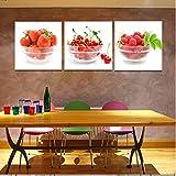 decorazione natalizia Pittura decorativa senza montatura frutta affresco parete paintings3pcs , 1 , 40x40 - HJ-HOME - amazon.it
