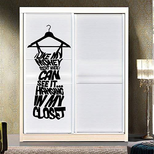n Geld Wand Dekorative Aufkleber Wandschrank Aufkleber Abziehbild Kleid Removable Home Decor Garderobe Vinyl Aufkleber Z 56x123 cm ()