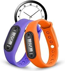 Voberry Digital LCD Pedometer Run Step Walking Distance Calorie Counter Watch Bracelet