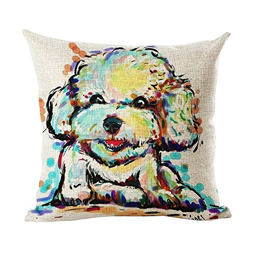 Rexing Irish Wolfhound Bright Colorful Pop Dog Art Two Size Suitbale Pillowcase Cover 18x18 inch/45x45cm -