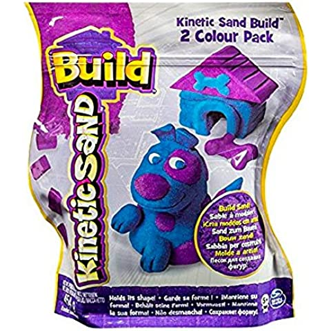 Kinetic Sand Construye 2 Colores Paquete (Azul/Lila) 454g