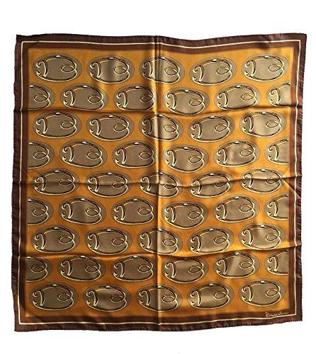 Foulard 100% seta BRACCIALINI 90x90cm Made in Itlay (giallo)