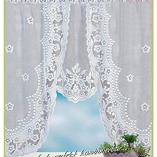 DIKHBJWQ Scheibengardine Weiß Bettvorleger Schlafzimmer rutschfest Gardinen ösen Vorhang Kinderzimmer Scheibengardine 90 cm Hoch Vorhänge Grau