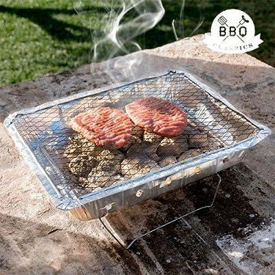 Desconocida Einweg-Grill BBQ Classics mit Ständer Holzkohlegrill Pic NIC