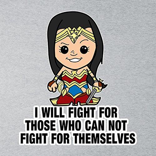 Lil Wonder Woman I Will Fight Men's Vest Heather Grey