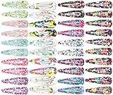 40 Stück Haarspangen, Blumenmotive (4 SB Karten mit je 10 Haarspangen = 40 Stück)