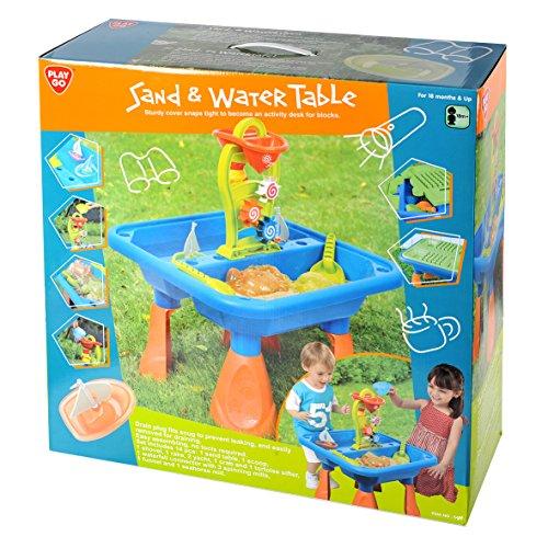 Playgo 5450 - Sand- und Wasser Spieltisch mit Deckel