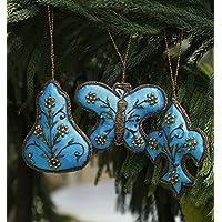 San Valentino regalo, Albero sospeso decorazione, Set di 3 Decorazioni di con la farfalla e fleur de lis motivi per la decorazione domestica, Muro Albero Hanging e regalo Decorazioni di Natale
