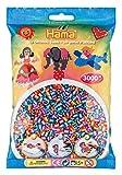 Hama-201-92-Beutel-mit-3000-gestreiften-Perlen-trkislilaorange