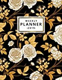Weekly Planner 2019: Vintage gold oriental floral 2019 planner and organizer with weekly views, inspirational quotes, to-do lists, yearly overviews, funny holidays and more.