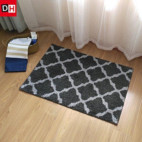 Preisvergleich Produktbild Die halle Tür mat mat Badezimmer WC-Tür mat Mat wc Wasser Badematte Teppich, 60 * 90 cm, Lane grau
