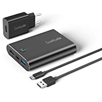 Luxtude PowerRapid 13400mAh Batterie Externe Quick Charge PD 18W pour iPhone, iPad, Samsung, Fast Charge USB C Power…