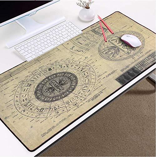 Zeichnungen Stil Muster Mousepad Mäuse Matte Pad Overlock Rand Große Größe Für Dekorative Desktop 40X70 Cm - Pad Dekorative Zeichnung