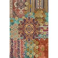 Vilber Bohemian Nomad Alfombra, Vinilo, Multicolor, 153x230x0.2cm
