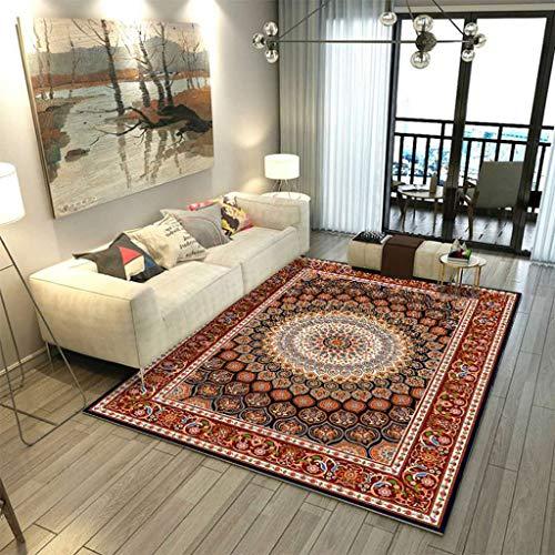 Brown Ivory-teppich (Tsinggs Moderner Persische Area Rug Brown Ivory Carpet (6 Feet X 9 Feet) Area Rug Vintage Faded Oriental Erased Carpet,#E,200 * 300cm(6.5x9.8ft))