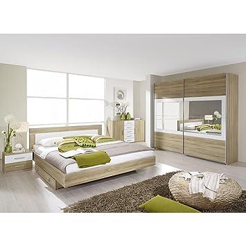 Rauch Schlafzimmer Set Venlo 6tlg. Eiche Sonoma Nb., Abs. Weiß B