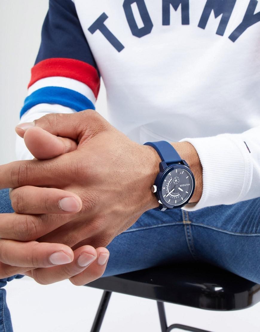 Tommy Hilfiger Reloj Analógico para Hombre de Cuarzo con Correa en Silicona