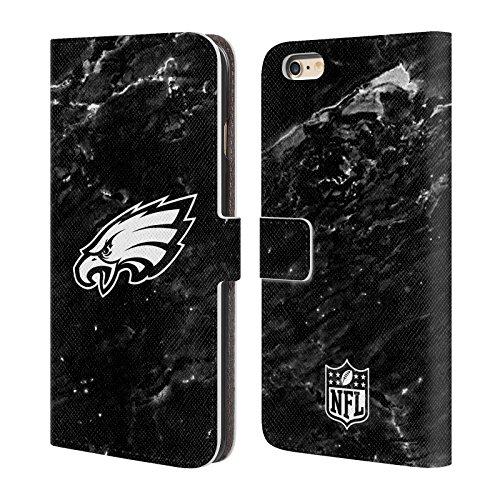 Ufficiale NFL Righe 2017/18 Philadelphia Eagles Cover a portafoglio in pelle per Apple iPhone 6 / 6s Marmo