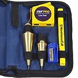 AWF-Pro Plumb Bob Kit, 16 y 8 oz de latón sólido Plumb Bobs, Carrete de línea...