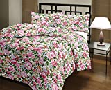 #3: Renown Beautiful Pink Floral Design Print Reversible Double Bed AC Blanket / Dohar / Quilt ( Pack Of 1 )