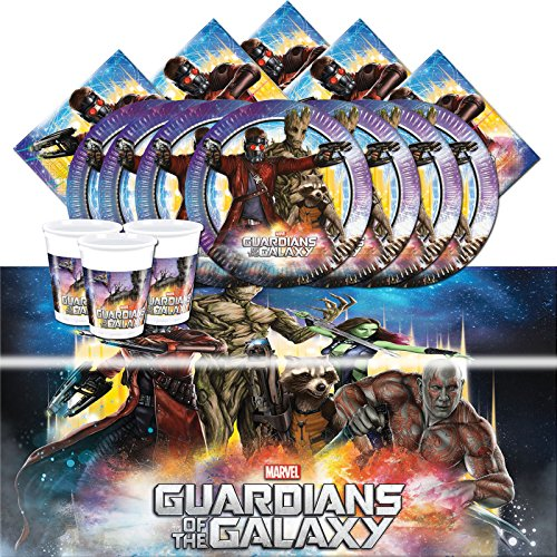 Offizielles Marvel Guardians Of The Galaxy-komplett Party-Set für 8 (Party Rocket Supplies)
