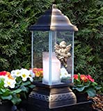 Tomba lampada in ceramica bianco in vetro a forma di croce con luce LED grab ♥ Tomba candela tomba luce tomba gioiello a forma di cuore griglia angelo Cimitero vaso a forma di cuore vaso Tomba Cuore
