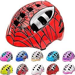 meteor Casco Bicicleta Casco Biciclea Casco Bici Casco de Bicicleta para niños y jóvenes Casco MTB Casco Carretera Ciclismo Skate Bicicleta patineta Patines monopatines MA-2 (M(52-56 cm), Spider)
