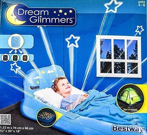 Kinder Gästebett-Dream Glimmers div.Farben, Farbe:blau;Motiv:Junge