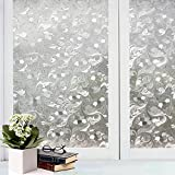 Bfeplfashion Decorative Privacy Frosted Window Glass Film Sticker Home Bathroom Waterproof - 4#