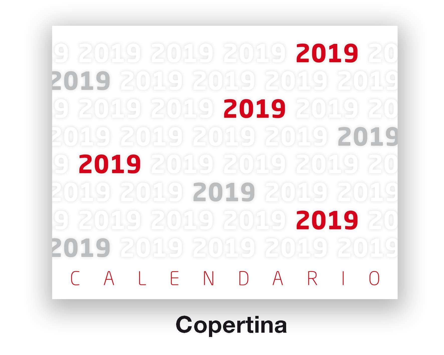 Calendario E Santi.Calendario 2019 Da Tavolo Per Casa E Ufficio Con Lune Santi