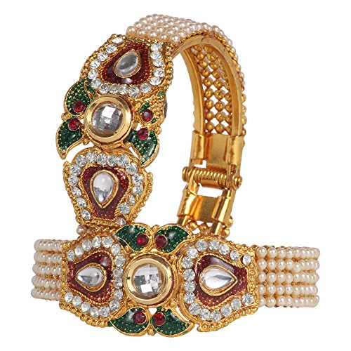 DS Multicolour Pearl Studded Openable Every occasion Bracelet Kangan Kada Bangles for Girls and Women