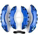 Universal Brake Caliper Covers Set Kit Front & Rear Blue Abs 4pcs - AMG Sticker - UK SELLER