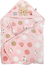 Mee Mee Baby Wrapper with Hood, Polka Print, Pink
