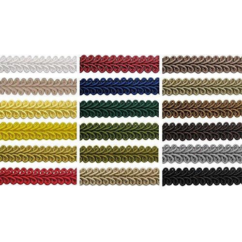 e-kurzwaren Posamentenborte Dunkelgrün 10mm x 5m oder 10mm x 50m