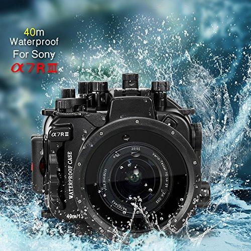 130 Feet/40 Meter Unterwasser Kamera Gehäuse wasserdichtes Gehäuse für Sony A7R III