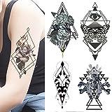 AbziehTattoo herren frauen damen - set 8 Temporäre tattoos - 21 x 15 cm -...