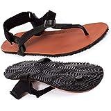 Shamma Sandals Warriors 2.0 Sandali da Corsa in Pelle Barefoot Running Sandals con Suola Vibram