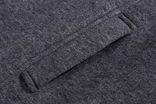 CRAVOG Damen Mantel Winter Jacke Kapuzenjacke Übergangsjacke Grau