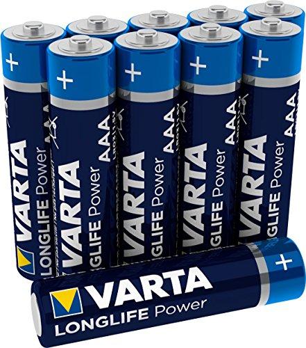 VARTA Longlife Power Batterie AAA Micro Alkaline Batterien LR03 - 10er Pack
