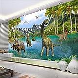 BZDHWWH Benutzerdefinierte Fototapete 3D Stereo Walled Jurassic Age Dinosaurier Wohnzimmer Schlafsofa Schlafzimmer Hintergrund,50cm (H) x 70cm (W)