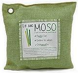 Le Sac MOSO version 500 GR - Purificateur d'air, Désodorisant, Absorbeur d'humidité, Naturel et sans odeur au Charbon de Bambou - 500 Gr (Bambou)