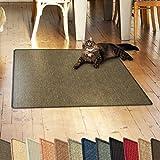 casa pura Sisalteppich Natural Line | Ideal als Kratzmatte für Katzen | schadstofffrei & widerstandsfähig | Sisal Kratzteppich in Vielen Farben und Größen (Tabak, 60x80 cm)