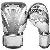 Die besten Venum 12 Oz Boxhandschuhe - Venum Impact Boxhandschuhe Thai Boxen, Kick Boxing, Silver/Silver Bewertungen