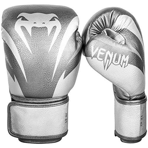 Venum Impact Boxhandschuhe Thai Boxen, Kick Boxing, Silver / Silver, 10 oz