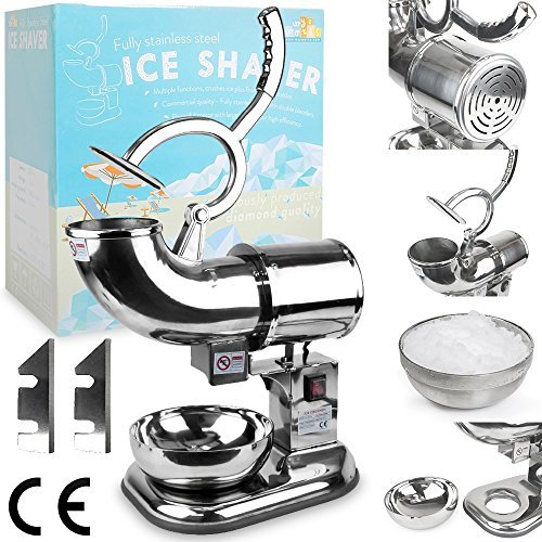 wyzworks-commercial-heavy-duty-ice-shaver-with-2-extra-blades-440lb-h-sno-snow-cone-shaved-icee-make