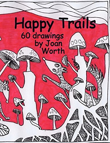 Happy Trails: 60 pictures ready for colored pencils (English Edition) -
